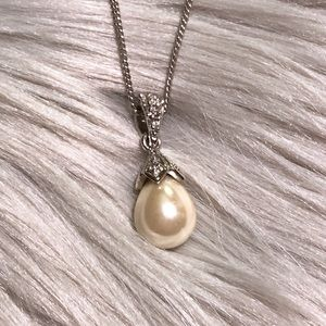 Silvertone Pearl Necklace